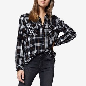 NWT ✨ Sanctuary Plaid Boyfriend Shirt